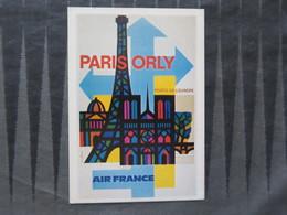TI - CARTE PUBLICITAIRE - REPRODUCTION - Paris Orly Porte De L'europe - Air France - - Advertising