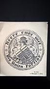 Ex Libris De Warenghien De Flory Vis Unita Fortior - Ex-libris