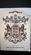 Grand Ex Libris  Bibliotheque Du Baron De Warenghien De Flory Vis Unita Fortior - Ex-libris