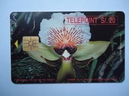 PERU USED CARDS  FLOWERS ORCHIDS - Peru