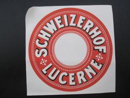 HOTEL MOTEL SCHWEIZERHOF LUCERNE SWISS SCHWEIZ SWITZERLAND LUGGAGE LABEL ETIQUETTE KOFFER AUFKLEBER DECAL STICKER - Hotel Labels