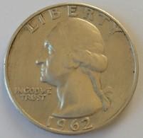 QUARTER  DOLLAR - 1962 - Washington - - Federal Issues