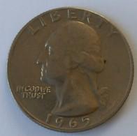 QUARTER  DOLLAR - 1965 - Washington - - Federal Issues