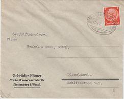 """10 067 Briefhülle Bahnpost """"HAGEN(WESTF.)-BETZDORF(SIEG)"""" 1935 - Allemagne"""