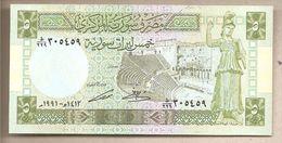 Siria - Banconota Non Circolata FdS Da 5 Sterline P-100e - 1991 - Siria