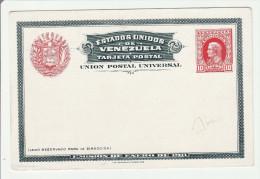 Centenario Independencia Venezuela 1911 - Cartolina Post Card - Stationery Entier Ganzsache - 2 Scans - Venezuela