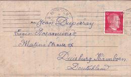 COURRIER Lettre ALLEMAGNE 18-03-1944 Adolf Hitler 3° Reich WW2 - Hallouin à Duperray Oblitération Sans Fin MUNCHEN Nazi - Allemagne