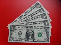 Serie De 5 Billets De 1 Dollar ALANTA 2013 Neufs Consecutifs - Federal Reserve Notes (1928-...)