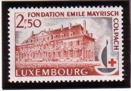 Luxembourg N°632 XX  Centenaire De La Croix-Rouge Internationale - Fondation Emile Mayrisch à Colpach - Neufs