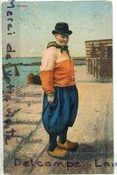 - Nooord-Holland - MARKEN -  Old Man, écrite, Cachet Rotterdam, épaisse, Flamme, 1914, TBE, Scans. - Marken