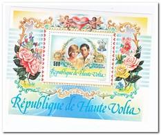 Opper-Volta 1983, Postfris MNH, Flowers, Wedding Prinz Charles, Lady Diana - Opper-Volta (1958-1984)