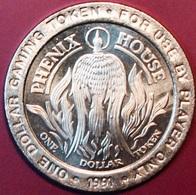 $1 Casino Token. Phenix House, Cripple Creek, CO. 1991. J56. - Casino