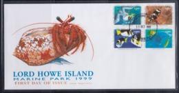 Australia Lord Howe Island 1999 Marine Park FDC - Cinderellas