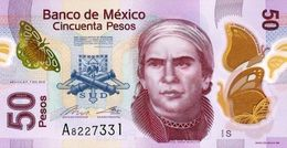 MEXICO.2015. 50 PESOS.T SERIES POLYMER UNCIRCULATED (B) - Mexico