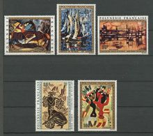 POLYNESIE 1972 PA N° 65/69 ** Neufs MNH Superbes Cote 127 € Peintures Paintings Artistes Tableaux Bovy Pilioko - Poste Aérienne