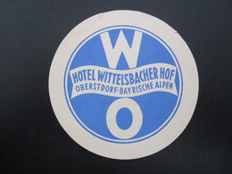 HOTEL OBERSTDORF WITTELSBACHER GASTHOF BAD DEUTSCHLAND GERMANY MINI DECAL STICKER LUGGAGE LABEL ETIQUETTE AUFKLEBER - Hotel Labels