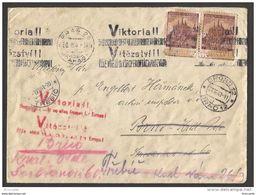 WWII - CECHY A MORAVA 1941 - VIKTORIA - LETTRE  PRAG PRAHA / BRNO - Occupation 1938-45