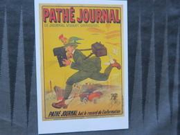 TI - CARTE PUBLICITAIRE - REPRODUCTION D'AFFICHE  - PATHE JOURNAL - - Advertising