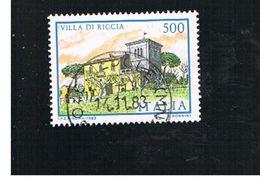ITALIA REPUBBLICA  - SASS. 1654  -      1983  VILLE D' ITALIA: DI RICCIA    -      USATO - 1946-.. République