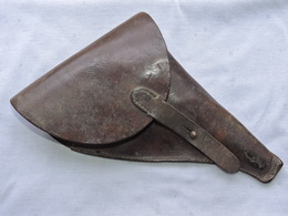ETUI CUIR REVOLVER 1892 Ou MODELES ESPAGNOLS FRANCE 14-18 - Equipement