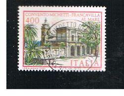 ITALIA REPUBBLICA  - SASS. 1653  -      1983  VILLE D' ITALIA: MICHETTI   -      USATO - 1946-.. République