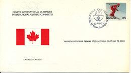 Canada International Olympic Committee OL Lake Placid Ottowa 23-1-1980 - Premiers Jours (FDC)