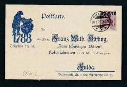 D.-Reich Firmen Karte  Fulda   (t9812  ) -siehe Bild - Cartas