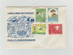 LIBAN - Timbres Sur FDC - LIBAN 1962 -  BOY SCOUT - SCOUTISME - Libanon