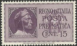 REGNO 1933 POSTA PNEUMATICA Effigie Di Dante Alighieri CON FASCI NUOVO - Posta Pneumatica