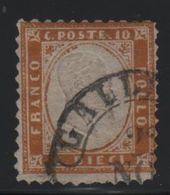 1862 10 C. Bistro US - 1861-78 Vittorio Emanuele II