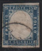 1863 15 C. Azzurro US - 1861-78 Vittorio Emanuele II
