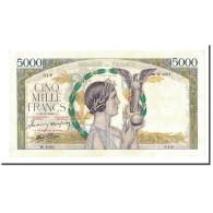 France, 5000 Francs, 1942-10-22, KM:97c, SUP, Fayette:46.43 - 1871-1952 Anciens Francs Circulés Au XXème