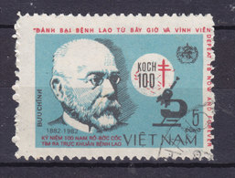 Vietnam 1983 Mi. 1308       5 D Robert Koch Deutscher Bakteriologe Mikroskop Tuberkulose Tuberculosis - Vietnam