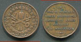 MEDAILLE DU VATICAN - PIE IX 1849 - Italie