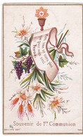 Ancien Canivet Image Pieuse BAILLARD - Souvenir De 1re Communion - Daté 1885 - Religion & Esotérisme