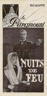 Programme Du Cinéma Le Paramount (Paris) 15/04/1937 Film Nuits De Feu De Marcel L'herbier (Gaby Morlay) - Programmi