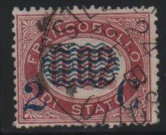 1878 Francobolli Servizio Di Stato 2 Su 0,02 US - Usati