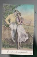 Rbc18 - CP  - Couple D'amoureux  - Que Dira La Marguerite ? -  Illustrateur G. Grellet - Autres Illustrateurs