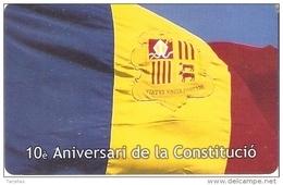 AND-136 TARJETA DE ANDORRA DE LA BANDERA (FLAG-FLAGS) - Andorra