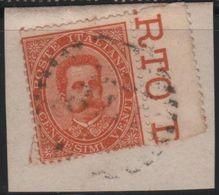 1879 Umberto 20 C.  Us Su Frammento SPL - 1861-78 Vittorio Emanuele II