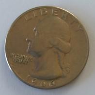 QUARTER  DOLLAR - 1966 - Washington - - 1932-1998: Washington