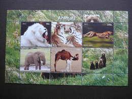 Tigers  Pantheras Elephants Camels Bears # 2011 MNH S/s # M(2105) Mammals - Beren
