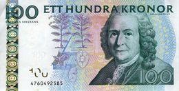 SUEDE - 100 Kronor 2009 - Série 4760492585 - P.65c ? - 1 Pli Central Vertical - - Sweden