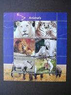 Tigers  Pantheras Rhinoceros ... # 2011 MNH S/s # M(2106) Mammals - Rhinozerosse