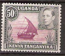 Uganda Kenya Tanganykia 1949 King George VI   - A Dhow On Lake Victoria, Mi 65, Unused Never Hinged - Kenya, Uganda & Tanganyika