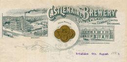Australie -  Brisbane 1895 - Castlemaine Brewery & Quinlan.Gray And Company Limited Brisbane. - Australia