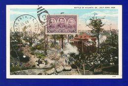 Atlanta 1937  Battle Of Atlanta , Maximum Card / Post Card - Atlanta JUL 22 1937 - Maximumkarten (MC)