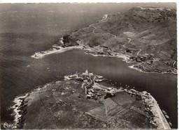 CPSM, (66), Pyrénées Orientales, PORT-VENDRES, Cote Vermeille, Vue Aérienne, Sémaphore, Jetée, Fort Bear - Port Vendres