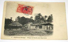 Casamance-Sénégal -Village De Kandé Près Ziguinchor - Cpa - Senegal