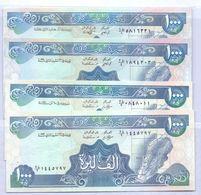 1988 & 1990 & 1991 & 1992  Lebanon Liban  1000LL Set Of 4 Livres Unc.  (Shipping Is $ 4.50) - Lebanon